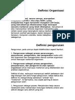 Organisasi Dan Pengurusan