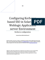 Configuring Kerberos Based SSO in Solaris and Weblogic