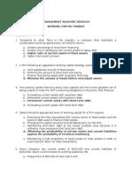 MCQ Working Capital Management CPAR 1 84