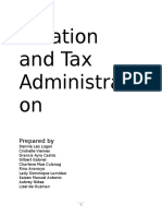 Taxation and Tax Administration