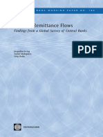 Migrant Remittance Flows :  Findings from a Global Survey of Central Banks