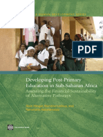 Developing Post-Primary Education in Sub-Saharan Africa