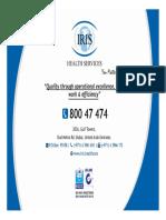Iris Health Ezyclaim Network Dubaine 011215