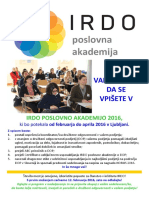 2016 Irdo Poslovna Akademija Program 2016