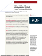 Association of NSAID Use With Risk of Bleeding and Cardiovascular Events in Patients Receiving Antithrombotic Therapy After Myocardial Infarction