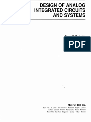 Design Of Analog Integrated Circuits And Systems Bipolar Junction Transistor Amplifier