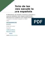 El Conflicto de Las Pensiones Sacude La Literatura Española