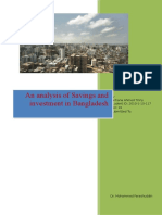 An Analysis of Savings and Investment in Bangladesh
