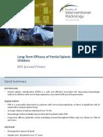 Pediatric Partial Splenic Embolization