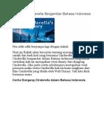 Dongeng Cinderella Bergambar Bahasa Indonesia