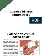 Cálculos biliares sintomáticos