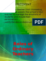 Roles of Ordinary Teachers