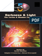 Babylon 5 RPG (1st ed.)-Darkness + Light -The Vorlon and Shadow Fact Book