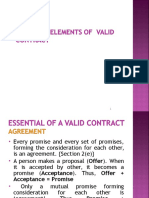 Essential Elements of a Contract 1