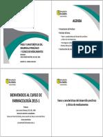 Fases y Características Del Desarrollo Preclínico y Clínico de Medicamentos 2015-1(1)