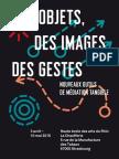 Catalogue de l'exposition « Des objets, des images, des gestes »