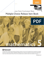 Math CCT Released Items (from State Dep't Of Education)
