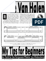 Van Halen Tips for Beginner