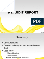 The Audit Report -Me