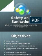 Food Safety % sanitation Ppt