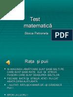 0teste Pentru Matematica