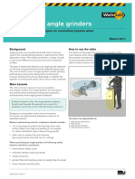 Angle Grinder Guidance Notes