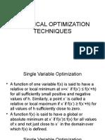 Classical Optimization Techniques -