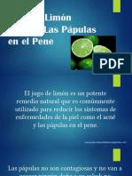 Jugo de Limón Elimina Las Pápulas en El Pene
