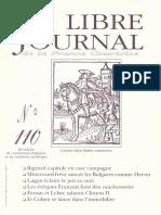 Libre Journal de la France Courtoise N°110