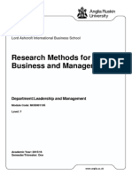 Research Methods for Business and Management