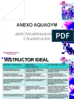 Anexo Acuagym, Aspectos Metodologicos