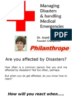 Handling Medical Emergencies & Disaster Management - Training by Philanthrope (NGO - India)