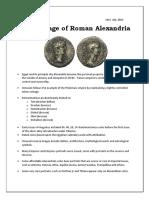 The Coinage of Roman Alexandria