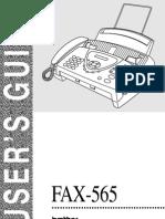 Manual Fax 565 Em Ingles