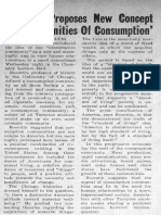 Boorstin proposes New Concept of Communities of consumption