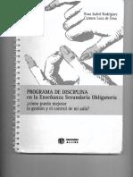 PROGRAMA de DISCIPLINA en La Enseñanza Secundaria Obligatoria