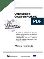 organização e gestão da produção