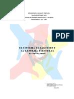 Ensayo Crítico Sobre El Sistema de Partidos y La Reforma Electoral