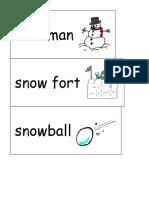 Vocabulary Words - Winter