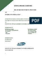 Mis of Recruitment Process[1]