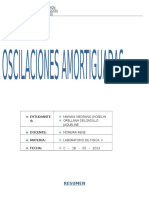 oscilaciones AMORTIGUADAS
