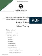 Balkan Music Theory (and More)