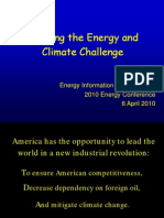 Meeting the Energy and Climate Challenge