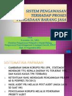 Sistem Pengawasan Thd Proses PBJ