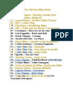 Set List 01 2016
