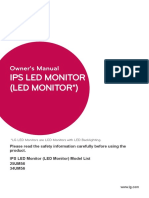 LG 25in Monitor Manual
