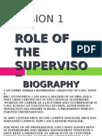 Lesson 1 - Supervisory Mgt