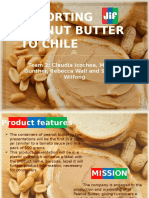 Exporting Jif Peanut Butter to Chile