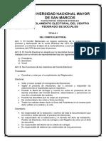 Reglamento Electoral Del Centro Federado de Sociales (1)