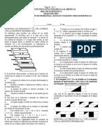 Evaluacion de Solucion de Problemas Angulos y Razones Trigonometricas Grado 10